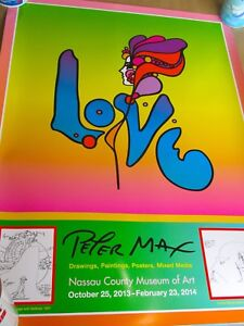 Peter Max Love Exhibition Poster for 2013 Nassau Museum Opening 24x18