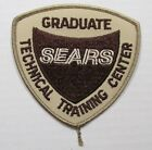 """Sears Technical Training Center Graduate Patch unused Approx 4"""" x 3.75"""" (BROWN)"""
