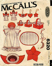 1970's VTG McCall's Christmas Decorations Pattern 6320 UNCUT