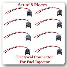 Set of 8 Kit Electrical Connector for Fuel Injector Fits: FJ682 Dodge & Jeep
