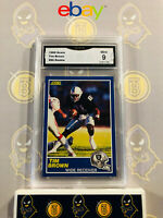 1989 Score Tim Brown #86 Rookie RC - 9 MINT GMA Graded Football Card