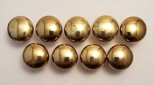 Round Ball Mushroom-New Lot of 12 SOLID BRASS Cabinet Knobs Drawer Pulls
