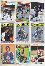 1976-77 TOPPS SIGNED CARD BORJE SALMING TORONTO MAPLE LEAFS RED WINGS SWEDEN 22