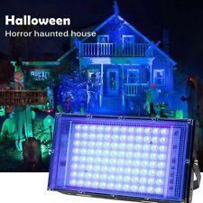 100W UV Schwarzlicht LED Flutlicht Fluter Wasserdicht Fluoreszierend Bühnenlampe