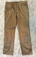 Luisa Cerano Gold Cotton Sateen Stretch Trouser Pants Straight Leg Festive Sz 12