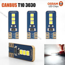 4 x Error Free Canbus T10 3030 6 SMD OSRAM LED White Car Side Light 360LM Bulbs