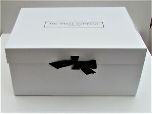 The White Company Empty Gift Box large lots of tissue paper & packing black bow