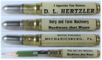 RESTORED Vintage Bullet Pencil - Hertzler Dairy & Farm Mechanicsburg, PA BS-1313