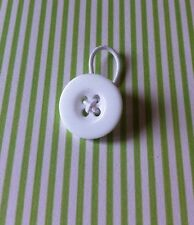 Waist extender button/pregnancy/maternity/post surgery ,1 BUTTON 18 mm. White