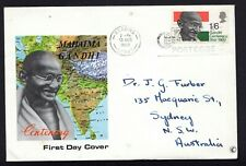 GREAT BRITAIN : FDC 1969 Mahatma Gandhi to Australia  - see scan
