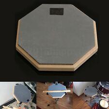 8'' Soft Black Dumb Drum Pad Exercise Mat Blow Plate Drummer Rubber Double Side