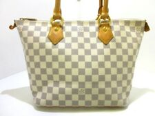 Auth LOUIS VUITTON Saleya PM N51186 Azur Damier VI0047 Handbag