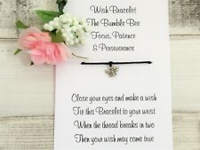 Bumble Bee Wish Bracelet Friendship Gift Card Spirit Animal Symbolism Patience