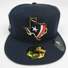 HOUSTON TEXANS NFL NEW ERA 59FIFTY METAL BADGE FITTED SIZE 7 1/2 HAT CAP NEW!