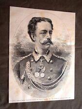Sua Altezza Reale il Principe Amedeo nel 1880 Presidente Esposizione di Torino