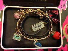 2011 LIMITED ED JUICY COUTURE PREFIXED BACK TO SCHOOL CHARM BRACELET YJRU5053