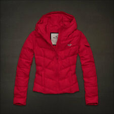 NWT Hollister Womens Hoodie Down Jacket Red Size Medium
