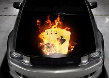 Four Aces Car Bonnet Wrap Decal Full Color Graphics Vinyl Sticker #035
