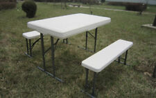 CLEARANCE-3 Pcs High-Density Polyethylen Assemble Folding Table & Bench Set$99