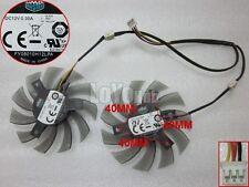 For CoolerMaster FY08010H12LPA graphics card Dual fan 7.5cm diameter DC12V 0.3A