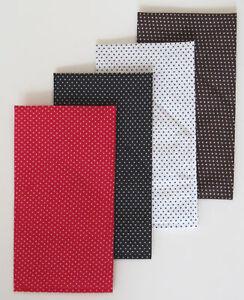 POCKET SQUARE - Polka Dot  Flat Top  CUSTOM Folded & Sewn - just slip in pocket