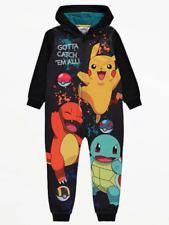 Official Pokemon Jumpsuit Pyjamas all in one Fleece Hooded