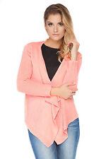Womens Knitted Waterfall Blazer Long Sleeve Shrug Sweater Size 8 - 12 FAS24