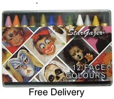 Stargazer Set of 12 Face Colours-EASY TO USE FACE&BODY COLOURS