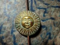 A Unique and Rare Continental Mantel Clock Pendulum Brass Sun Face Antique