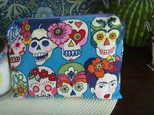 D HANDMADE PURSE FRIDA  SUGAR SKULL MEXICAN  ARTIST DESIGNERS GUILD 19cm x 14cm