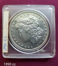 1890-CC MORGAN DOLLAR SILVER COIN CARSON CITY KEY DATE AU condition