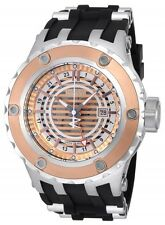 New Men's Invicta 16819 Subaqua Reserve Swiss GMT Rose Dial Black Poly Watch