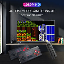 Spielekonsole Retro Spielkonsole 4K HDMI Out, Video player Konsolen mit 628 Game