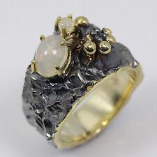 Echte Edelstein-Ringe aus Gelbgold mit Opal und Cabochon