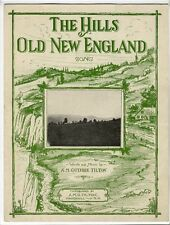 NH PUBLISHED Sheet Music 1929 The Hills Of Old New England Haverhill NH