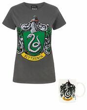 Harry Potter Slytherin Crest Women's T-Shirt and Mug Gift Set Bundle