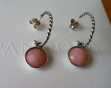 Pandora Pink Opal Medallion Compose Earrings #290643POP & Posts. Retired. New