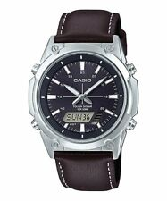 AMW-S820L-1A Casio Men's Watches Leather Band Digital Analog