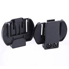 2x Clip/Clamp Mount for Motorcycle Helmet Intercom Bluetooth Interphone V6/V4 .