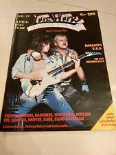Live Wire Nr.12 Accuser Blind Guardian Megadeth Voivod Thrash Metal Fanzine...