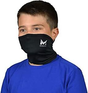 MISSION COOLING NECK GAITER FACE MASK COVER BLACK YOUTH COOLS UPF 50 NEW COMPACT