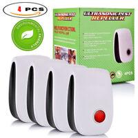 4Pcs Pro Ultrasonic Pest Repeller Home Bed Bug Mites Spider Defender Roach Mice