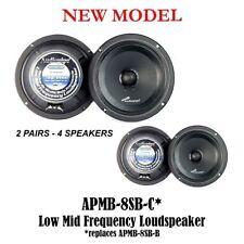"4 Pcs 8"" 250W Low Mid Frequency Speakers Full Range Car DJ Audiopipe APMB-8SB-C"