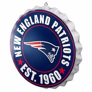 """New England Patriots Bottle Cap Sign - Est 1960 - Room Bar Decor NEW 13.5"""""""