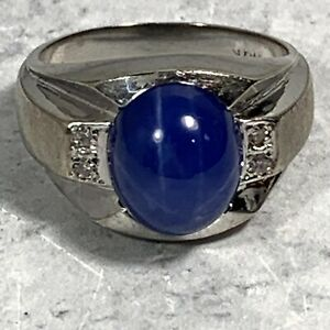 10k Gold Mens Ring With Lindsey Star Sapphire Cabochon 9.5 Grams Size 9.25