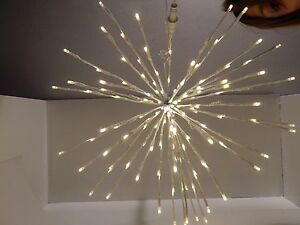 SFERA LUCI ADDOBBI PER NATALE 160 LED con FLASH D'APPENDERE diam.60 cm.BIANCO