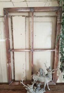 Bilderrahmen Fenster Holz natur Shabby Vintage Landhaus Deko