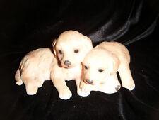 Royal Osborne handpainted porcelain Labrador puppies ornament
