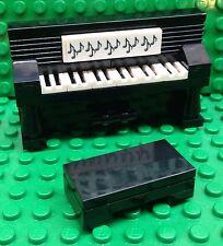 New lego Custom Piano Upright Mini figure Size W/Bench  Furniture Music Teacher