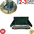 CAMP STOVE PROPANE 2 Burner Outdoor Camping Adjustable Portable Cooking Gas NEW photo